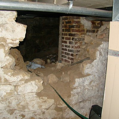Sallie House Basement Atchison Kansas  One of the Haunted Stops on The Haunted Taxi Ghost Tour Of  Atchison Kansas One of the most haunted places in the USA