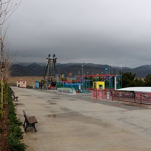 a big park with many types of games.