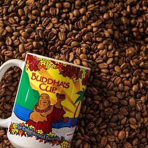 Our medium Buddha's Cup coffee.