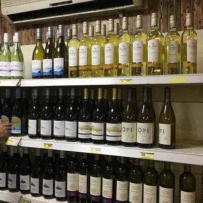 Sehr gute Weinauswahl