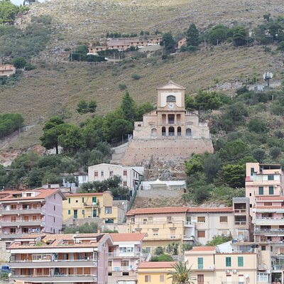Santuario di Maria Santissima Addolorata al Calvario delle Croci vista dalle terrazze della Cattedrale di Monreale