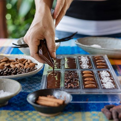 Make your own chocolates to take home.