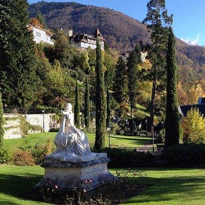 Parc des Roses à Territet-Montreux (VD) avec la statue de Sissi, impératrice d'Autriche