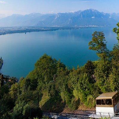 Funiculaire Territet-Glion (VD) - vue sur le lac Léman