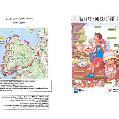 4h à 5h. Niveau difficile. Passez par le Bureau d'Information Touristique De Bauduen (à l'entrée du village) pour plus de renseignements! https://www.lacs-gorges-verdon.fr/pratique/infos-tourisme