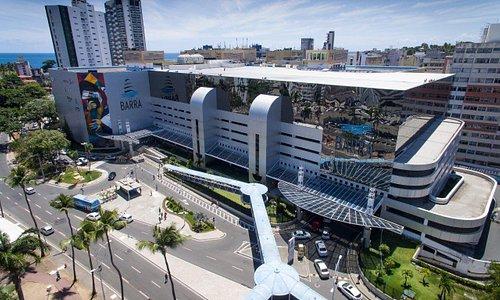 Shopping Barra visto de cima.