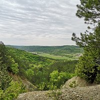 View from Pazin-Beram-Pazin trail, a little bit after the church of St. Mary of the Rocks .