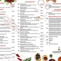 Gerichte Speisekarte mit Preisen