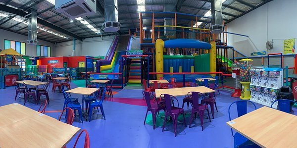 Huge 4 storey play structure for 4yrs and over. A gated area for toddlers 0-3yrs.