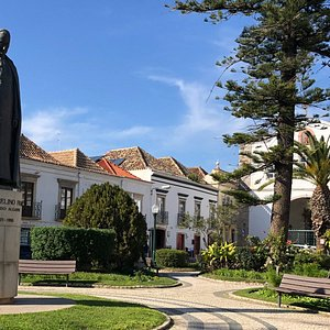 The Jardim da Alagoa is a small, historic garden in the Praca Antonio Padinha. It was created in 1915 to showcase  plants from 5 different continents. There are a couple fo statues and a pretty church here as well.