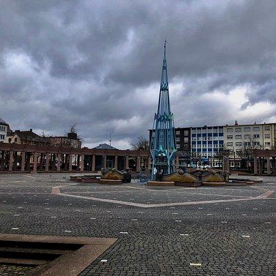 "Exerzierplatz (""Exe"") vor dem Neuen Rathaus"