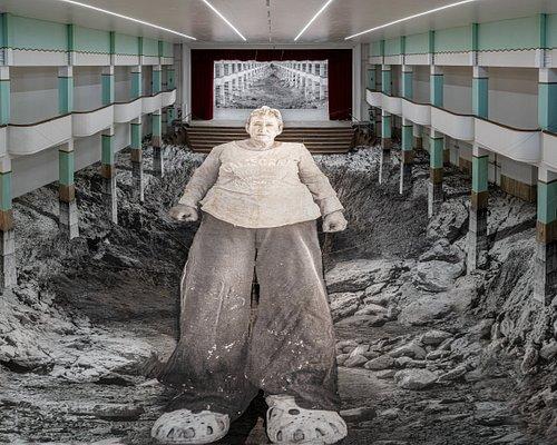 """JR """"Omelia Contadina"""" 2020 exhibition views Galleria Continua San Gimignano, Photo: Ela Bialkowska"""