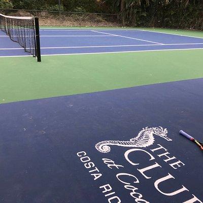 Beautiful tennis courts