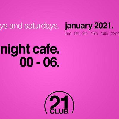 Techno night cafe