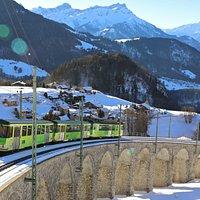 Ligne de chemin de fer à crémaillère Aigle-Leysin (hiver)
