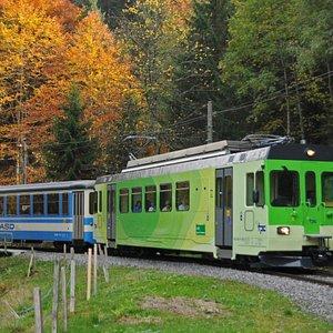 Ligne de chemin de fer Aigle - Le Sépey - Les Diablerets (été)