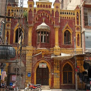Lohari Gate Church,New Anarkali Bazaar Lahore  A very small Pre Partition Church right infront of Bansi Dhar temple admist the shops of Anarkali bazaar. it is a Presbytre Church, before partition it was a Chapel and was converted to a Church later.