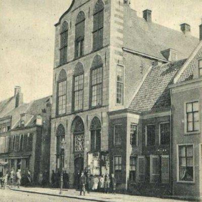 Ansichtkaart, ca. 1930, voor restauratie