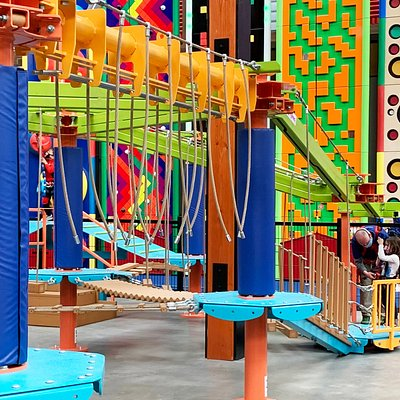 Sky Tykes® ropes course + Sky Rail® zip rails - perfect for small children to explore!