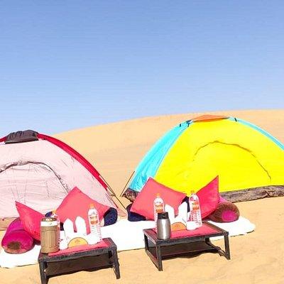 Over night stay in the heart of desert... #starwatching #desertjaisalmer