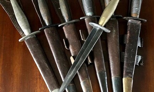 We have recently purchased a private collection of original WW2 period FS daggers. All in excellent condition and one of the 2nd Patterns has direct provenance and medals to the original WW2 Surrey Regiment owner. There are hand ground examples, B2 Crows Foot, 'I' Crows Foot, B2 England Crows Foot and B2 examples as well as very nice 3rd patterns too (various markings).