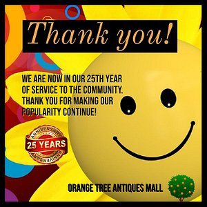 As the Photo States: We are now in our 25th year of service to the community.  Thank you for making our popularity continue!