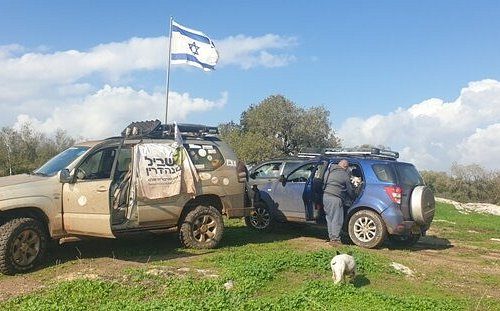 The Israeli flag on Tel Sando hill= we have lot of historical attractions and Galil special view