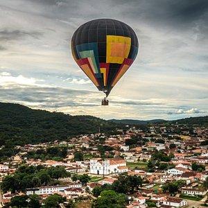 Um belo registro do passeio de balão...