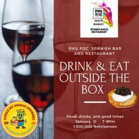 """OUTSIDE THE BOX """"WINE & DINE"""" EVENT 31 Januanry 2021"""