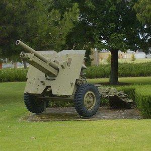 field gun nearby