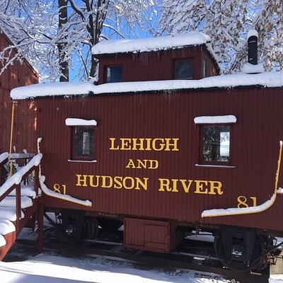 The Lehigh and Hudson River Railway Caboose was built in 1910 and traveled the rails for many decades. The caboose is a perfect example of a bumper caboose, and open when the Historical Society conducts tours of the Shingle House Complex.