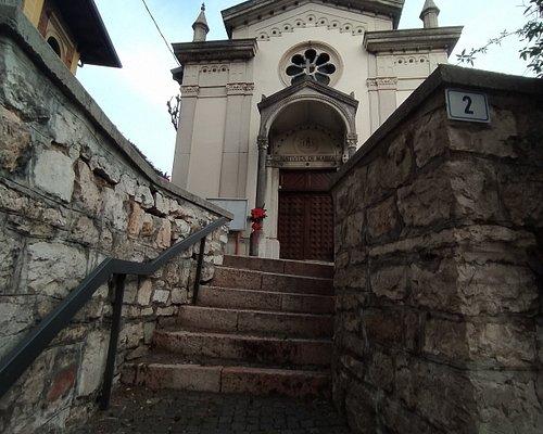 Scalinata per accedere alla Chiesa