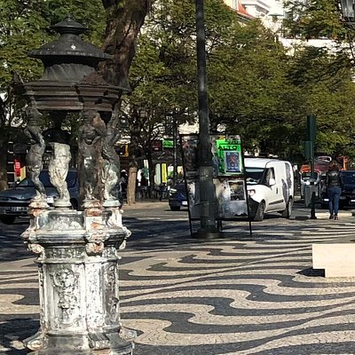 This charming 19th century drinking fountain can be found in Rossio Square.
