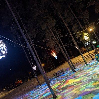 Evening walk through Jasper's Centennial Park.