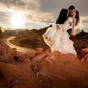Sunset Valley of Fire Wedding