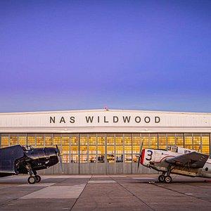 Night shot at Historic Hangar #1 by Werner Tedesco!