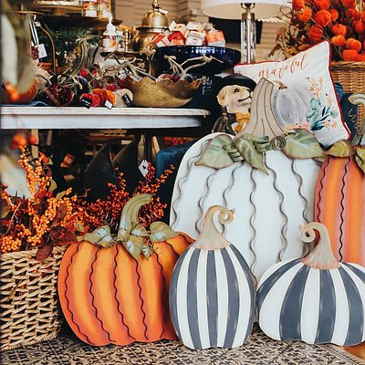 Welcome Fall with our collection of pumpkins from brands you love!  From floral arrangements to wreaths, lanterns to candles...we have everything you need to make your home feel festive for the fall season!