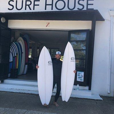 planches de surf Cabianca avec Manu surf house