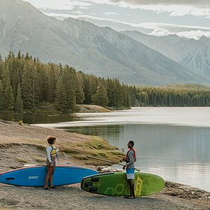 Banff National Park provides many adventures and epic scenery on a SUP