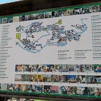Mappa di Cibiana nei pressi della chiesa