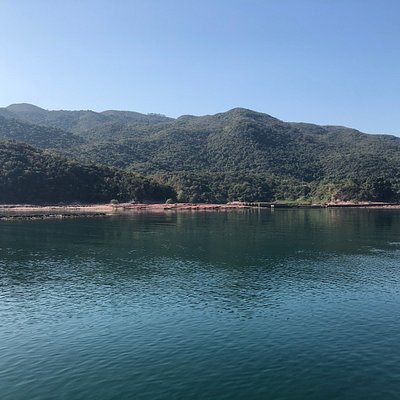 Hung Shek Mun - seen on board ferry to Lai Chi Wo