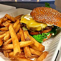 Our Classic Cheese Burger and Sassy Frys will hit the spot just right.