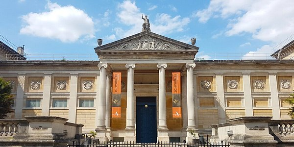 The entrance to the Ashmolean Museum, the University of Oxford's museum of art and archaeology, founded in 1683. The Museum's world famous collections range from Egyptian mummies to contemporary art, telling human stories across cultures and across time.