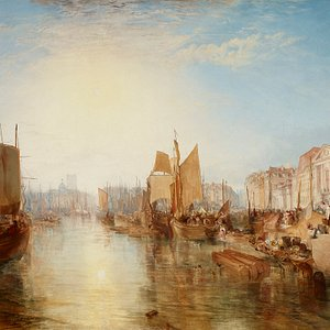 Harbor of Dieppe: Changement de Domicile by Turner. The Frick Collection, New York