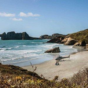 Picnic on a remote beach