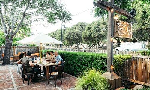 Holman Ranch Tasting Room front patio