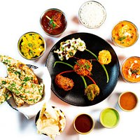 A fabulous selection of curries and starters