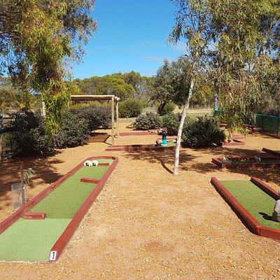 9 hole mini golf course.