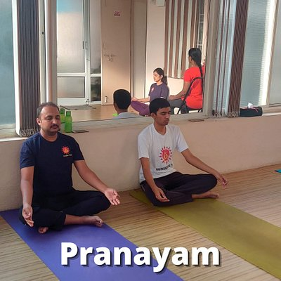 Pictures from Yoga Studio, Students Practicing Pranayam
