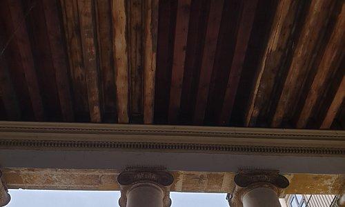 Soffitto portico Palazzo Valmarana Braga